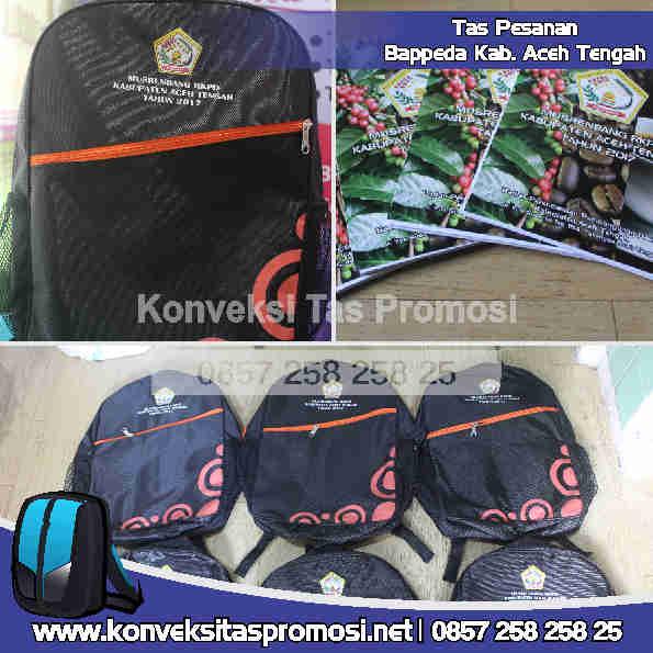 Konveksi Tas Promosi Bappeda Aceh Tengah