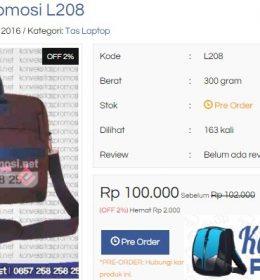 Contoh Hasil Konveksi Tas Promosi Model Tas Laptop