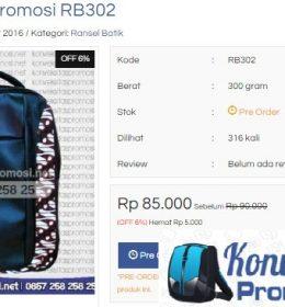 Model Ransel Batik Buatan Konveksi Tas Online Terbaru